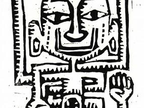 Cannibal Estampe Linocut Linogravure