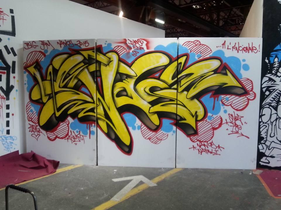 Graffiti Wild Style Snoz780 Hyperactivity Big Jam Nancy 2015