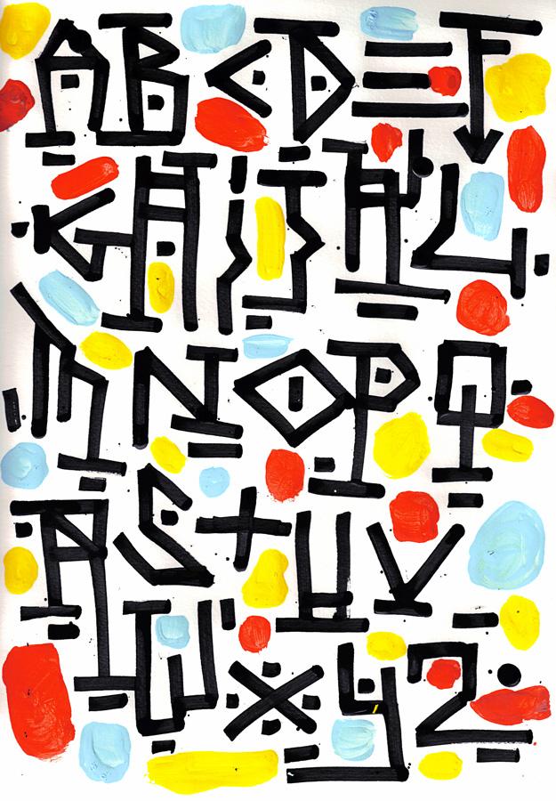 The Egyptian Hieroglyphic alphabet