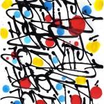 Madness, calligraphie expérimentale abstraite réalisée à l'aide d'un marqueur steel ball mop et rehaussée de gouache et acrylique sur papier d'art par Hyperactivity.