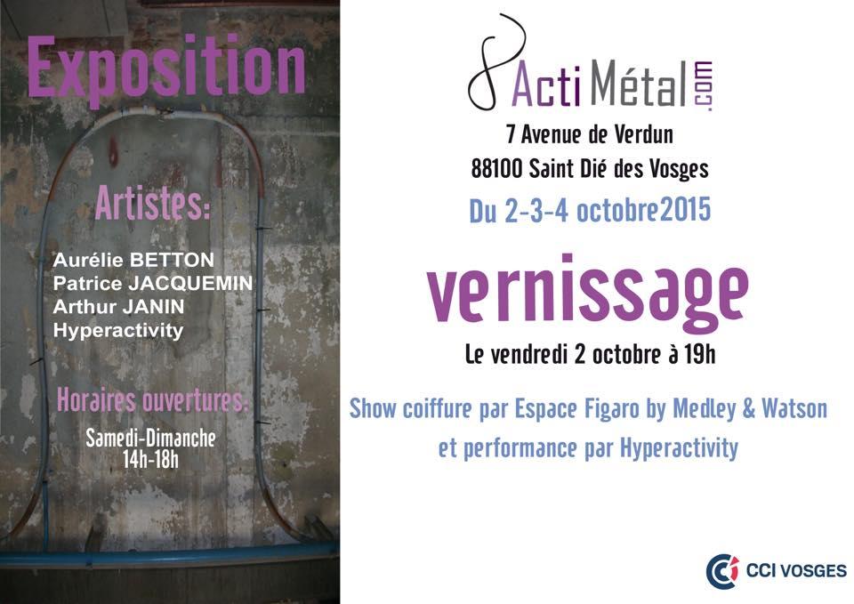 Exposition Actimetal Saint-Dié-des-Vosges avec Hyperactivity