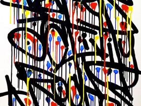 Lignes de Vie, calligraphie expérimentale réalisée par Hyperactivity