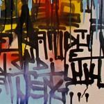 """Détail du diptyque """"Ezekiel 25:17"""" réalisé lors de l'exposition d'art contemporain organisée par Actimetal à Saint-Dié des Vosges (88) du 2 au 4 octobre 2015"""