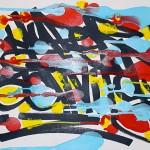 Composition calligraphique expérimentale Long Train Running
