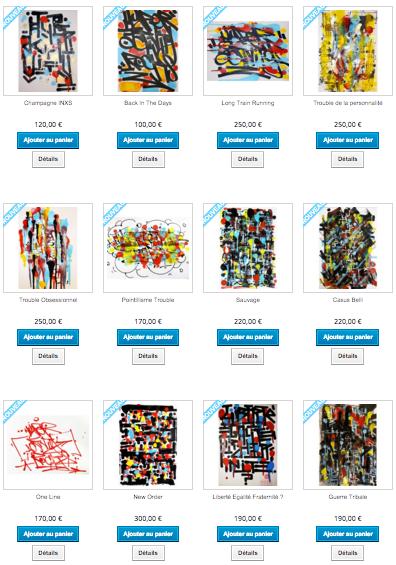 Galerie d'art en ligne de l'artiste Hyperactivity
