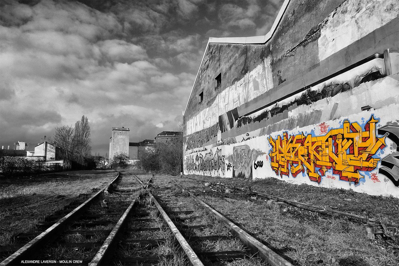 Photographie d'Alexandre Laversin du graffiti Hyperactivity