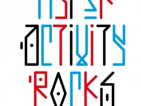 """Travail typographique inspiré par l'alphabet runique ou """"futhark""""."""