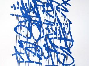 Récidive, estampe réalisée en sérigraphie d'art par Hyperactivity