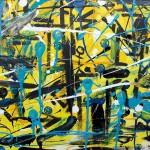 """Killing in the name of"", peinture sur toile (expressionisme abstrait) par Hyperactivity Rocks"