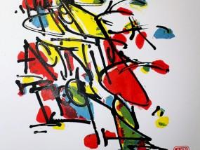 """""""Salade de fruits"""", estampes sérigraphiées artisanalement, auto-édition par Hyperactivity"""