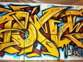 DJ Toxic (Kontakt Prod., Nancy) graffiti wild style par Hyperactivity Rocks 2016