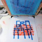 """""""Graffiti"""" impression artisanale de 7 estampes en sérigraphie 3 couleurs, tirage limité par Hyperactivity Rocks 2016"""