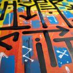 """""""San Gennaro"""", peinture abstraite inspirée par les arts premiers, Hyperactivity Rocks, 2016"""