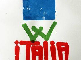 """""""Viva Italia"""" tirage limité de 7 estampes, sérigraphie artisanale, Hyperactivity Rocks 2016"""