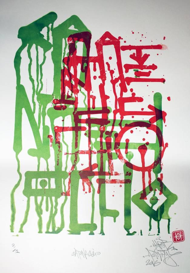 Catenaccio, sérigraphie d'art imprimée en tirage limité par Hyperactivity Rocks en 2016