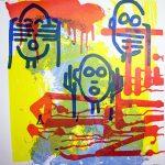 """Omerta"", sérigraphie artisanale par Hyperactivity Rocks, 2016"