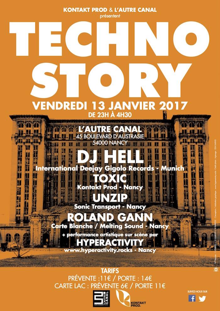 Graffiti Live de Hyperactivity lors de la soirée Techno Story #5 avec Dj Hell à L'Autre Canal (Nancy)