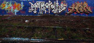 Fresque graffiti peinte le 29/12/2016 à Nancy avec Jacky 6000 (Mexico City) Hyperactivity (Nancy) et Near (Milano / Napoli)