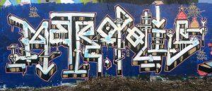 Metropolis, graffiti peint par Hyperactivity à Nancy le 29 décembre 2016