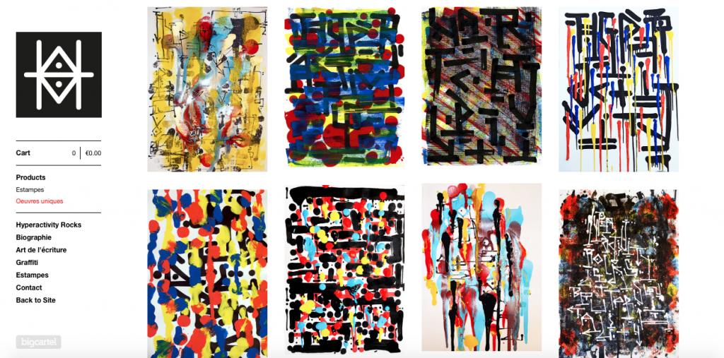 Boutique en ligne Hyperactivity Rocks vente d'oeuvres originales