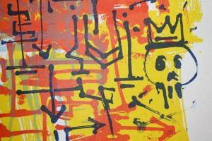 """Tierra Guarani"", sérigraphie artisanale par Hyperactivity Rocks"