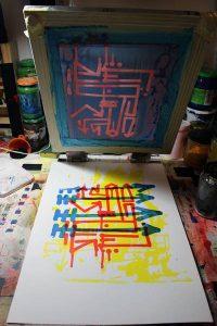 """""""Alphabet Sauvage"""", auto-édition de 12 estampes en sérigraphie artisanale et manuelle"""