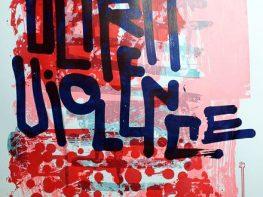 """""""Ultraviolence"""", sérigraphie artisanale imprimée à 12 exemplaires par Hyperactivity Rocks"""