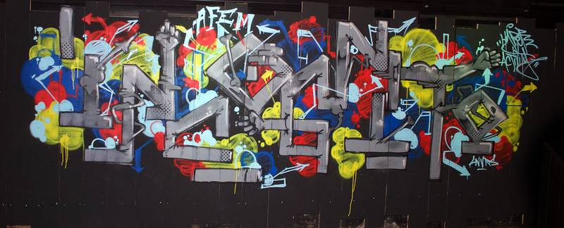 """Incognito"", graffiti en freestyle à LNVRS Cub (Nancy) par Hyperactivity Rocks"