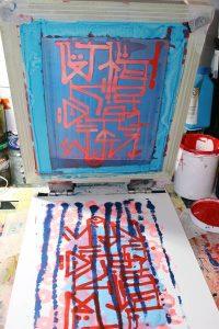 """""""Vandalisme"""", auto-édition de 10 estampes en sérigraphie artisanale et manuelle"""