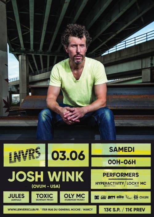 Graffiti Live Hyperactivity lors de la venue de Josh Wink à LNVRS le 3 juin 2017