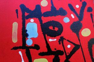 """""""Stress Test"""", calligraphie expérimentale sur toile par Hyperactivity Rocks"""