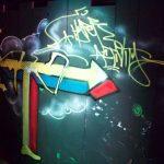 """Graffiti """"Resist !"""" peint pendant la soirée organisée par Foremost à LNVRS qui accueillait Josh Wink"""