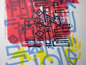 """""""Higher State Of Consciousness"""" sérigraphie artisanale imprimée à la main par Hyperactivity"""