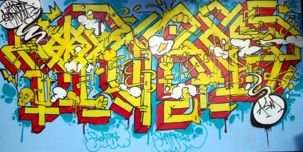 Floating Fortress, graffiti expérimental au Jardin du Musée des Beaux-Arts de Nancy